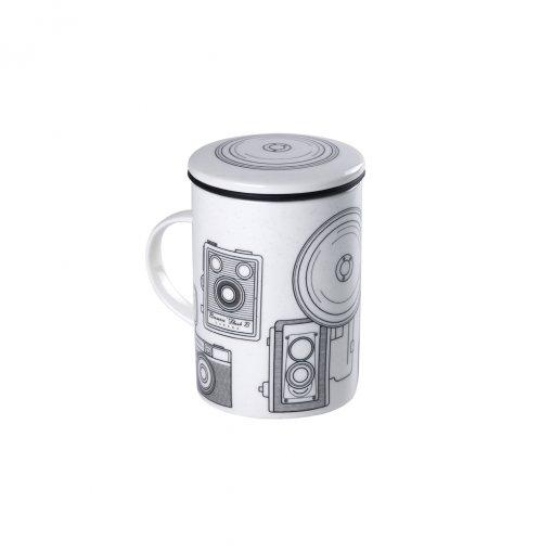 Caneca de Porcelana Mug Classic White Hipster Tea - Tea Shop