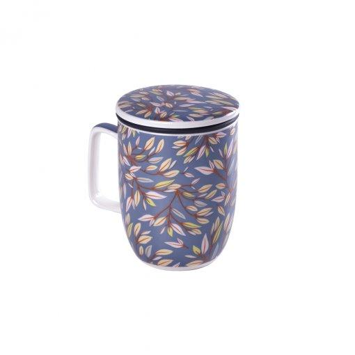 Caneca de Porcelana Mug Harmony Japan Grey - Tea Shop