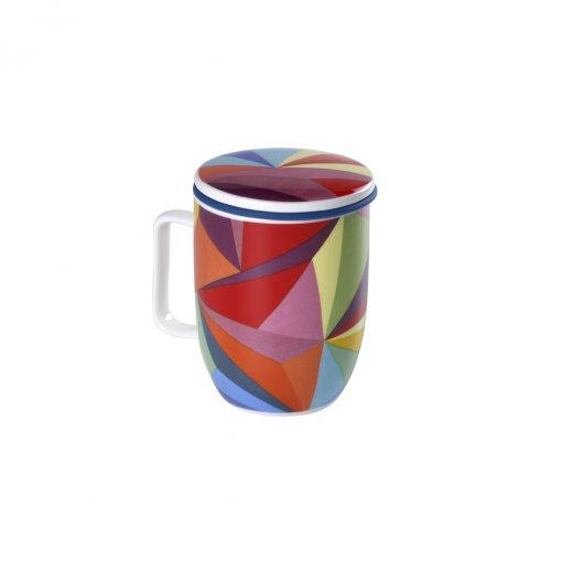 Caneca de Porcelana Mug Harmony Rainbow Cubist - Tea Shop