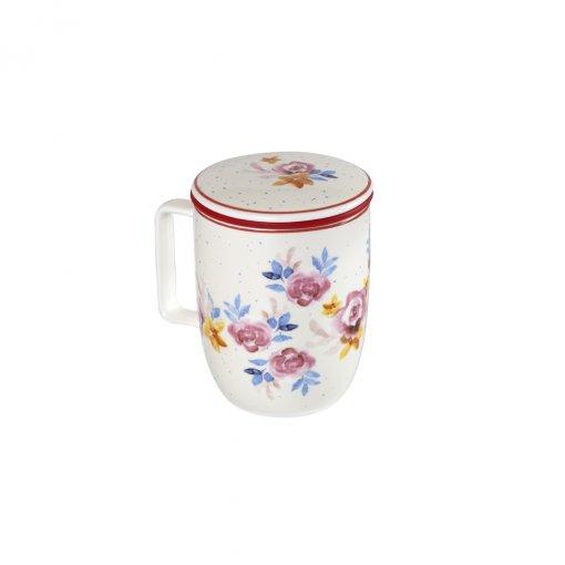 Caneca de Porcelana Mug Harmony Rose Garden - Tea Shop