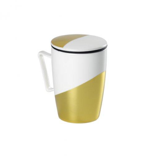 Caneca de porcelana Mug Super Jumbo Golden