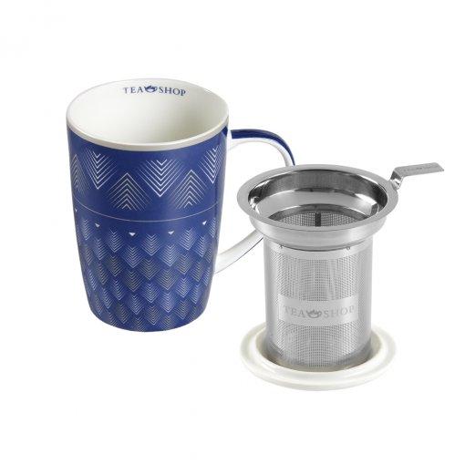 Caneca de Porcelana Mug Super Jumbo Flechas Azuis - Tea Shop