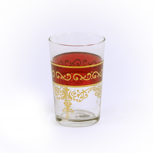 Copo Cristal Árabe Vermelho