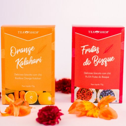 Kit Biscoitos com chá- Orange Kalahari & Frutas do Bosque