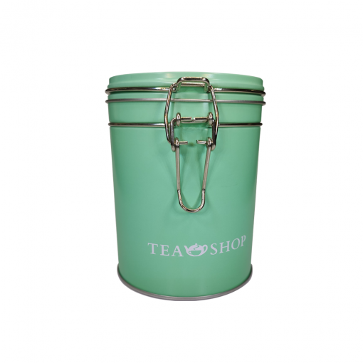 Lata para armazenamento de chá redonda Mint - Tea Shop
