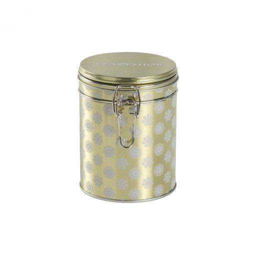 Lata para armazenamento de chá redonda  Winter Gold - Tea Shop