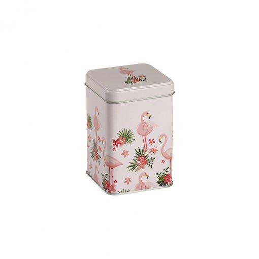 Lata para armazenar chás Flamingo 100g - Tea Shop