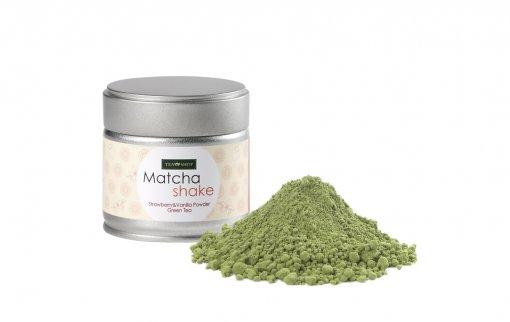 Matcha Shake Morango e Baunilha