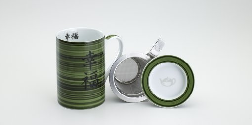 Mug Cylinder Bambú Verde