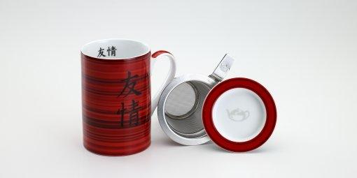 Mug Cylinder Bambú Vermelha