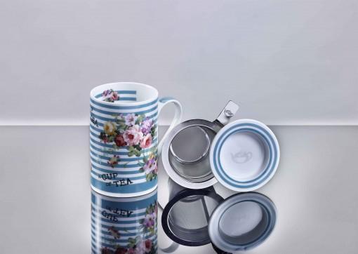 Mug Cylinder Flower Vintage
