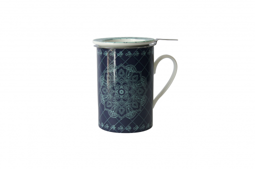 Mug Cylinder Mandala Azul