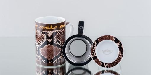 Mug Cylinder Snake Marrom