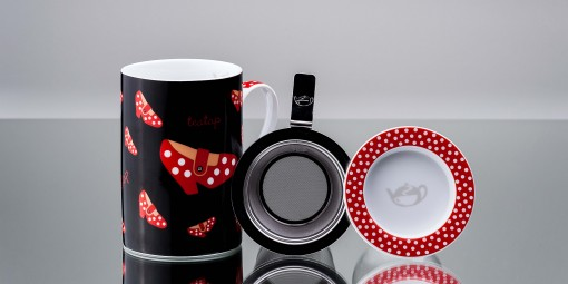 Mug Cylinder Teatap Preta
