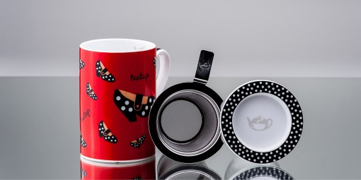 Mug Cylinder TeaTap Vermelha
