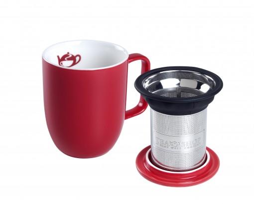 Caneca de Porcelana Mug Harmony Red - Tea Shop