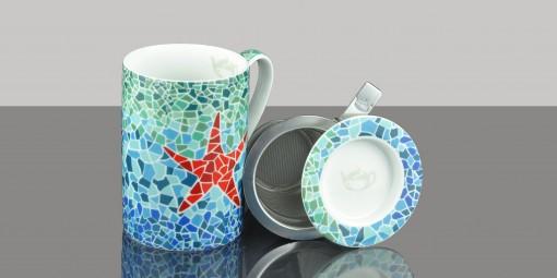 Mug Cylinder Mosaic Star