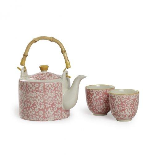 Set Jasmin Pink - Bule mais xícaras