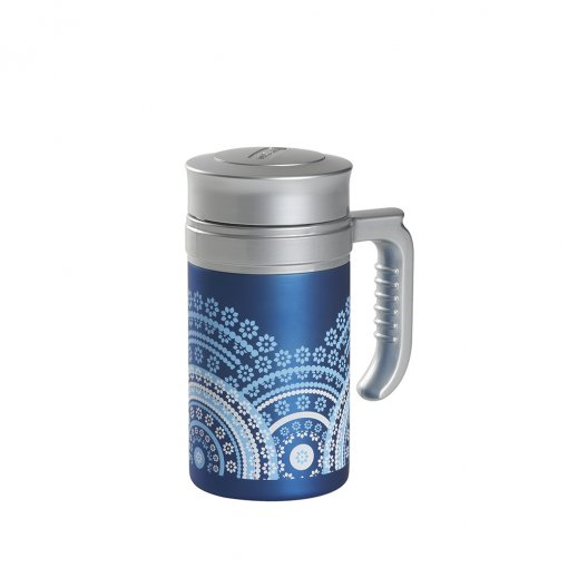 Travel Tea Mandala Light Blue
