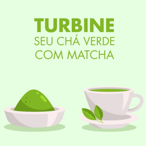 Turbine seu Chá Verde GingTea + Matcha Latte Manga - Tea shop