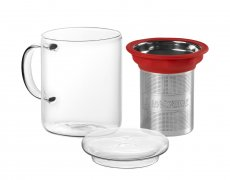 Imagem - CANECA DE VIDRO MUG ALL IN ONE Red - TEA SHOP