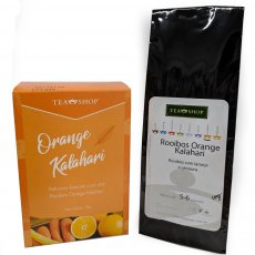 Biscoitos com chá- Rooibos Orange Kalahari + 100g do Chá