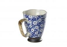 Caneca de Porcelana Japonesa Mug Uki Nekko blue