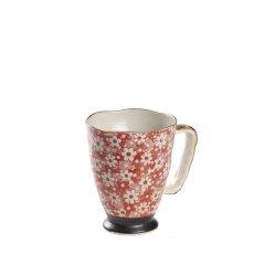 Caneca de Porcelana Japonesa Mug Uki Nekko red