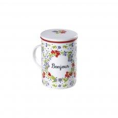 Caneca de Porcelana Mug Classic Bonjour - Tea Shop