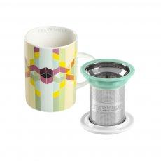Caneca de Porcelana Mug Classic Geometric - Tea Shop