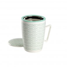Caneca de Porcelana Mug Super Jumbo Creta - Tea Shop
