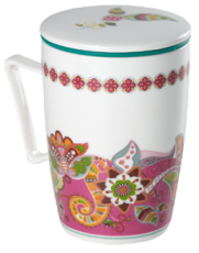 Caneca de porcelana Mug Super Jumbo Ethnic - Tea Shop