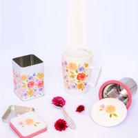 Kit Floral Primavera -  Lata Belle e Mug Super Jumbo Belle