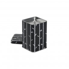 Lata Bambu Black para Armazenar Chás 100g - Tea Shop