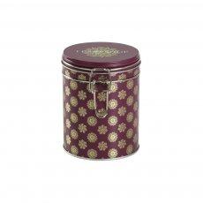 Lata para armazenamento de chá redonda  Winter Burgundy - Tea Shop