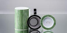Mug Cylinder Texturas Verde
