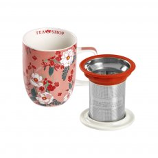 [PRÉ-VENDA] Caneca de Porcelana Mug Harmony Japan Rose - Tea Shop