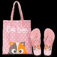 Imagem - Kit Chinelo + Bolsa Petite Jolie Cat Lover Pj10256