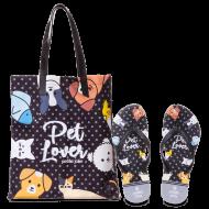 Imagem - Kit Chinelo+Bolsa Petite Jolie Pet Lover Pj10256