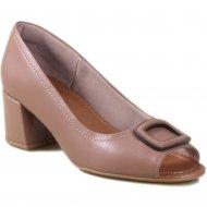 Imagem - Sapato Peep Toe Usaflex Care Couro AD1605