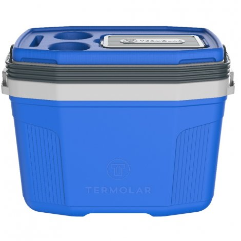 Caixa Térmica SUV 20L Termolar Azul com Cinza