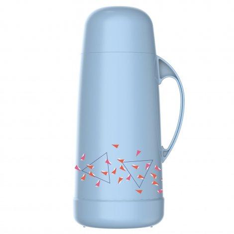 Garrafa Térmica Garbo Azul Pastel 1L Decorada Geométrico Rolha Clean