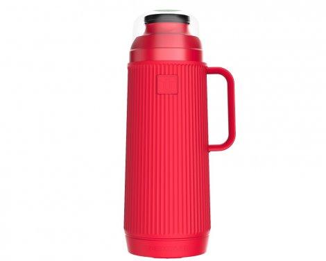 Garrafa Térmica Mundial 1L Vermelho Morango Rolha Clean