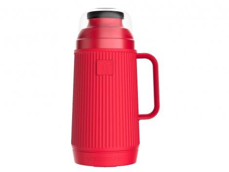 Garrafa Térmica Mundial 750ml Vermelho Morango Rolha Clean