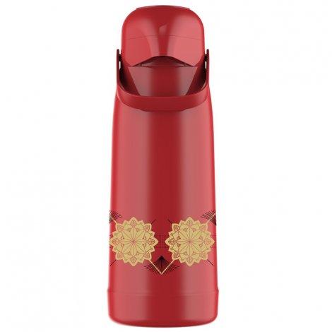 Garrafa Térmica Pressão Magic Pump 1.8L Vermelho Mandala