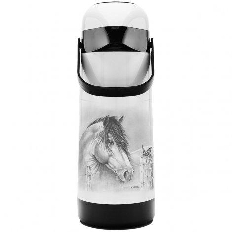 Garrafa Térmica Pressão Magic Pump 1L Cavalo e Borboleta