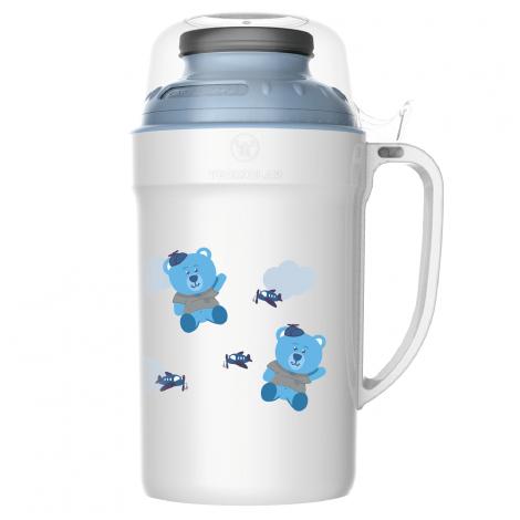 Garrafa Térmica Versatile 500ml Urso Azul Rolha Clean