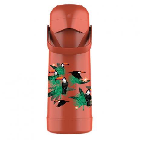 Garrafa Térmica Pressão Magic Pump 1L Tropical