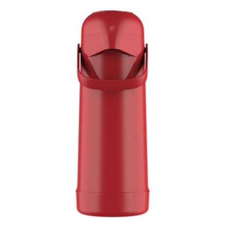Garrafa Térmica Pressão Magic Pump 1L Vermelho Romã