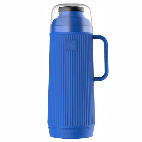 Garrafa Térmica Mundial 1L Azul Rolha Clean